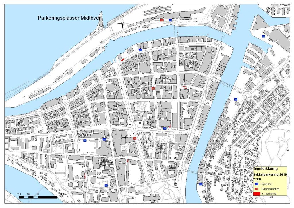 bysykkel kart Miljøpakken » Sykkelparkering og bysykler i Midtbyen bysykkel kart