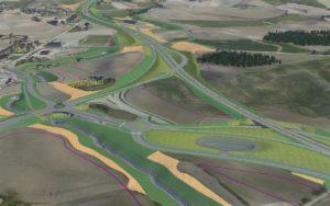 Vegsystemet på Klett når E6 er ferdig bygd.