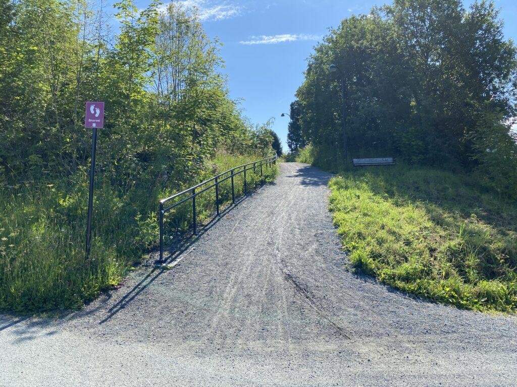Tilgang til snarvei fra Kristianstensbakken