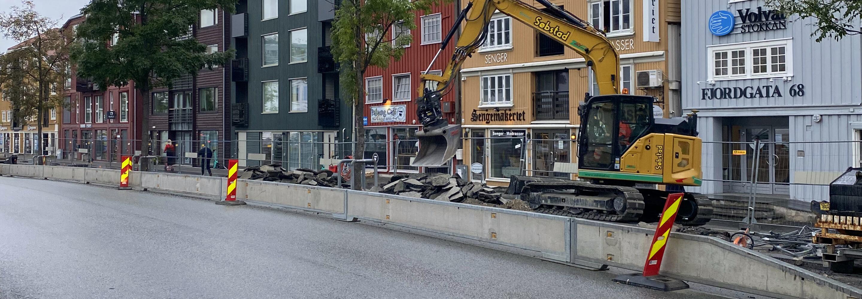 Anleggsarbeid i Fjordgata