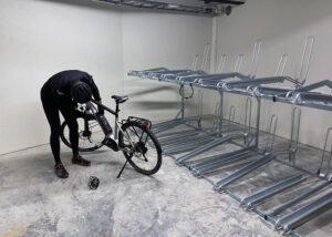 Innendørs sykkelparkering