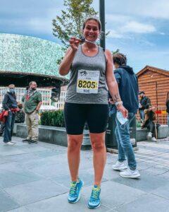 Anda Blumberga på Trondheim Maraton